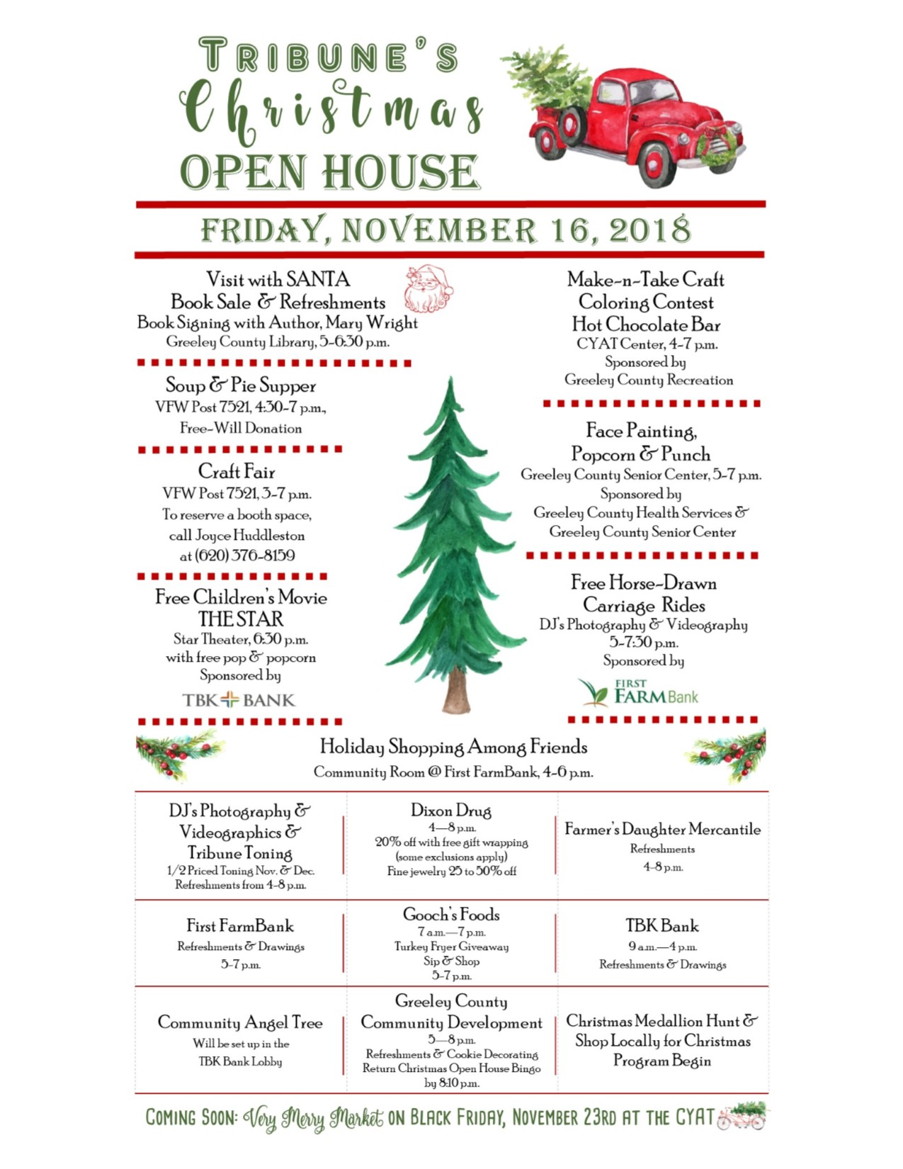 Christmas Open House.Tribune S Downtown Christmas Open House Greeley County Kansas